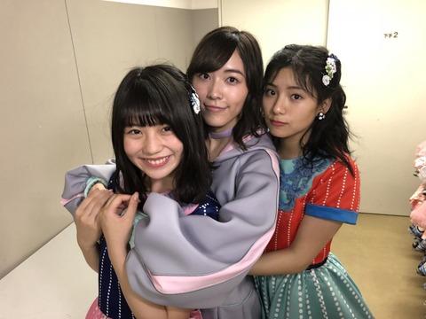 【SKE48】松井珠理奈・小畑優奈・後藤楽々のスリーショットが何か凄い
