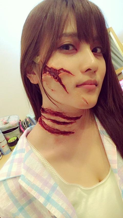 【AKB48】あんにんのハロウィンコスがグロ過ぎる・・・【入山杏奈】