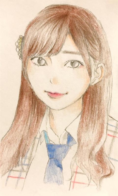 【画像】AKB48梅本和泉が書いた指原莉乃の似顔絵がめっちゃ似てる
