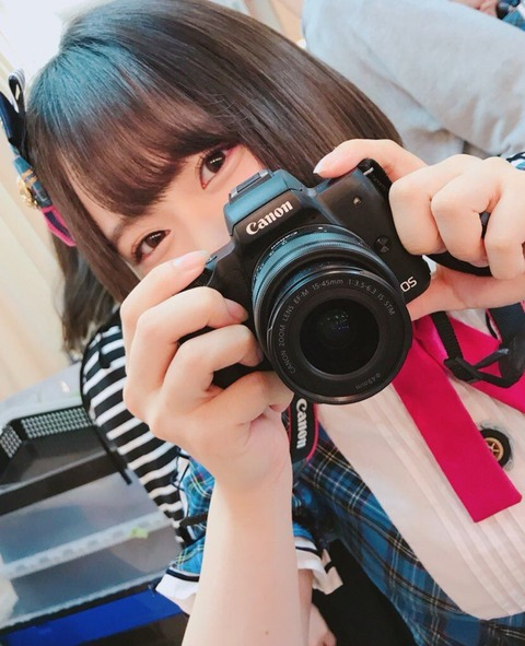 【AKB48】チーム8倉野尾成美ちゃん、エイターに対抗すべくカメラ女子に