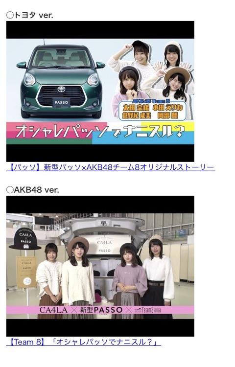 【朗報】チーム8がトヨタ新型PASSOとコラボ決定!スペシャルムービーも公開!