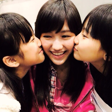 【AKB48】なこみくが渡辺麻友の前髪をグシャグシャにする