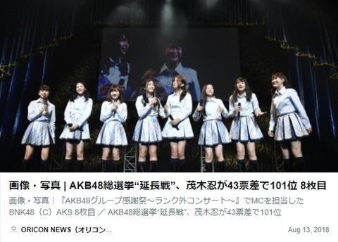 【恒例】今年のAKB48選抜総選挙101位~120位が発表される