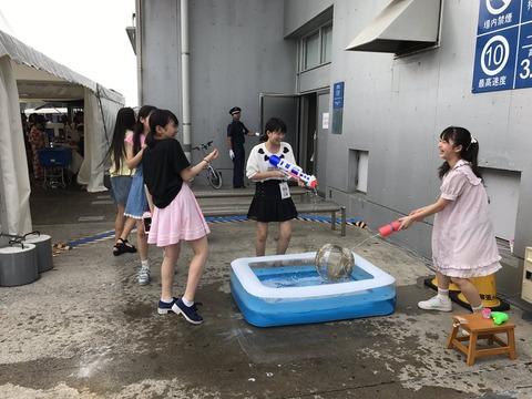 【AKB48】ビショビショに濡れて大喜びな16期の子どもたち