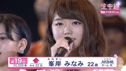 【AKB48】今年の総選挙で峯岸みなみは何位になるのか?