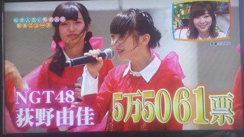 【NGT48】で結局荻野由佳の総選挙速報5万票ってどこから来たの?