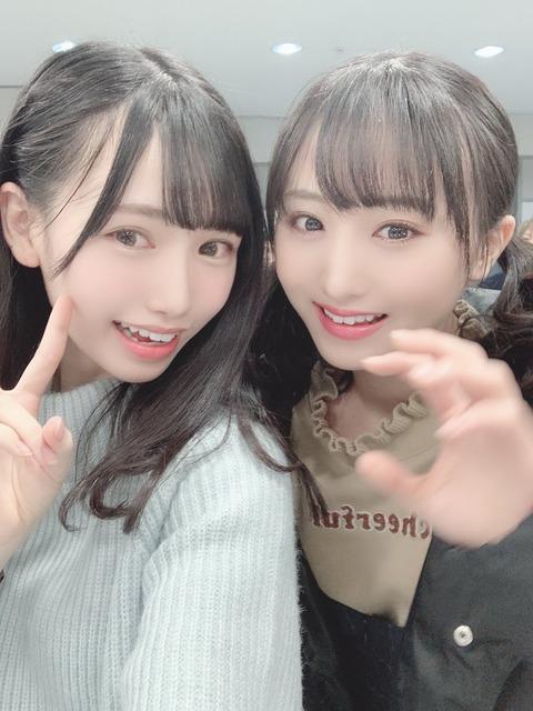 【AKB・HKT】北海道が生んだ美少女2人をご覧ください【坂口渚沙・運上弘菜】