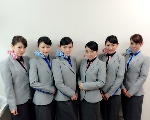 【AKB48】ANAイベント選抜CAコスがヤバいwwwwww