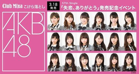 STU48は池袋Club Mixaで観客入れて公演やったけど、去年同じ会場でやる予定だったAKB48のグループショット撮影会はいつやるの?