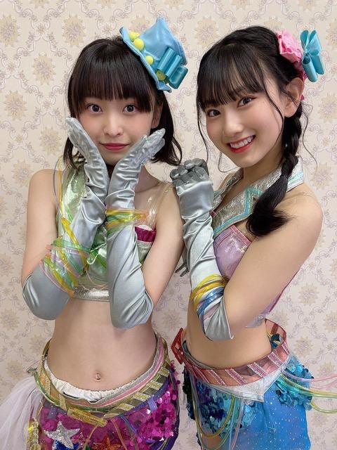 【衝撃】AKB48坂川陽香(14歳)・徳永羚海(14歳)のライブ衣装がエロすぎる!!!