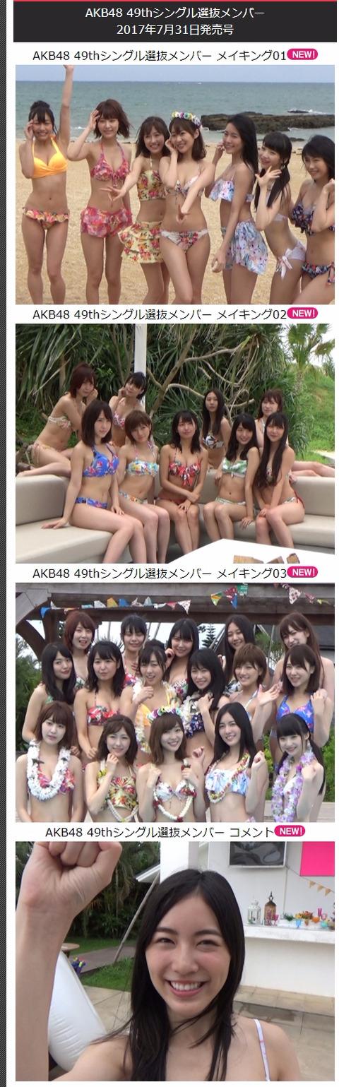【AKB48総選挙】週プレモバイルに水着サプライズの撮影メイキング動画が来てるぞ!