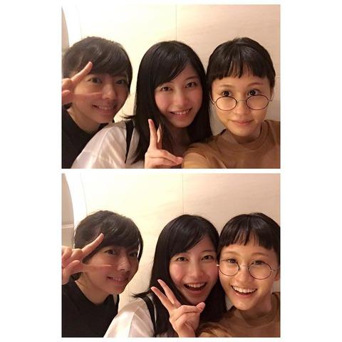 前田敦子、映画館で偶然横山由依と中村麻里子に遭遇する