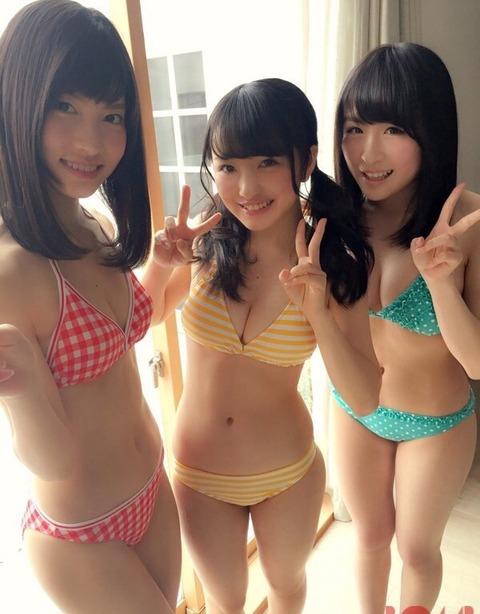 【AKB48】 この3人を新三乳士として売り出そうぜwwwwww【谷口めぐ・向井地美音・川本紗矢】