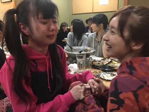 【NMB48】酔っぱらって泣きながら梅ちゃんに絡むみおりんwwwwww【梅田彩佳・市川美織】