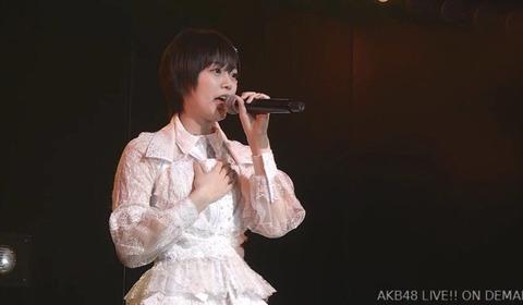 【AKB48】チーム8早坂つむぎ、劇場公演にて活動再開を発表!!!