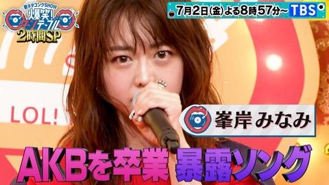 【元AKB48】峯岸みなみさん「卒業してAKBの固定給無くなったから不安しかない、事務所からの給料は歩合制にした」