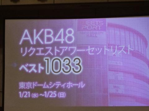 「AKB48リクエストアワー セットリストベスト1035 2015」詳細決定!
