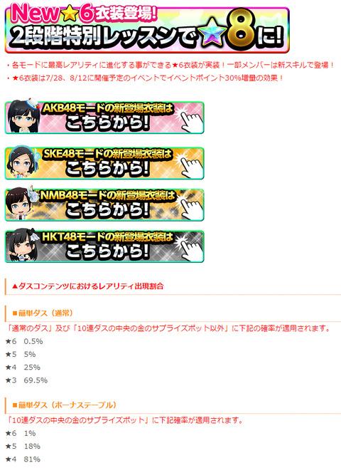 【悲報】AKB48G公式音ゲー、遂に「レアリティ★8」が新登場w【インフレ】