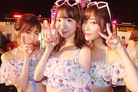 HKT48ひまわり組&AKB48チームB「ただいま 恋愛中」公演にさしまゆゆきりん!!!