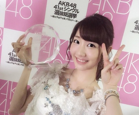 【AKB48総選挙】武井壮「ゆきりん悲願の総選挙1位で号泣観たいよね。しかし指原のケツが強過ぎる。」