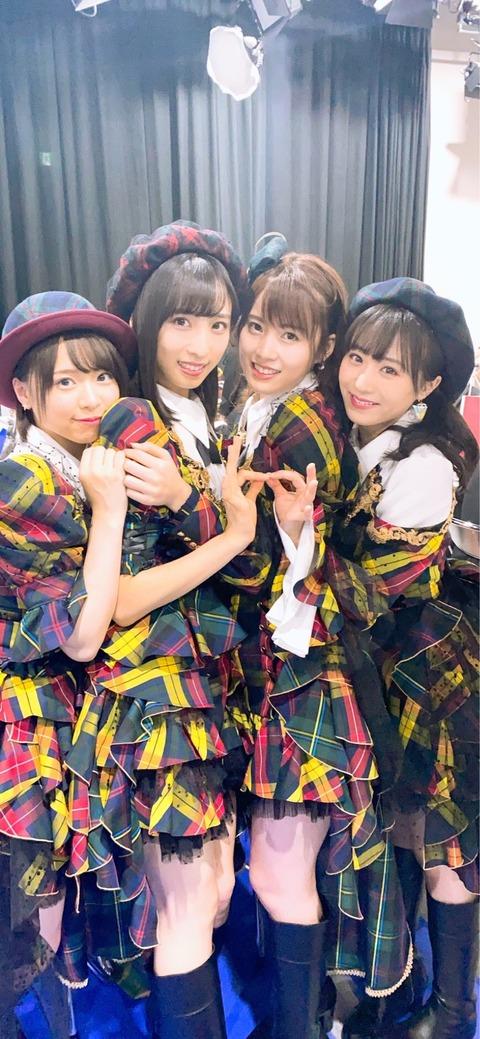 【AKB48】 しのぶ 「この4人、このままユニットデビュー出来そうなくらい バランスがいい。」