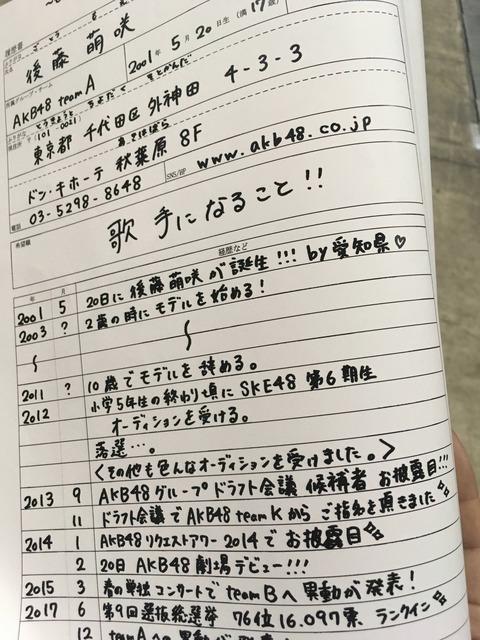 【AKB48】もえきゅん 選挙終了後すぐに卒業することが判明www【後藤萌咲】