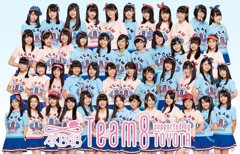 【悲報】NHK紅白総選挙、中間発表でチーム8が全滅・・・