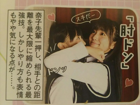 【HKT48】なこちゃんが「肘ドン」した時の顔www【矢吹奈子】
