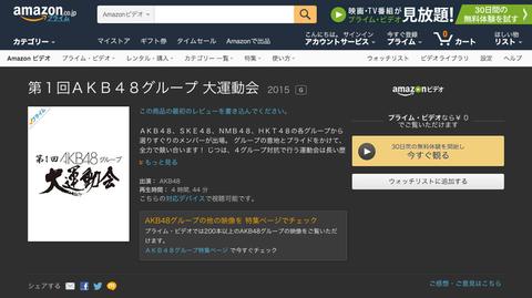 【朗報】Amazonプライムビデオに「第1回AKB48グループ大運動会」キタ━(゚∀゚)━!