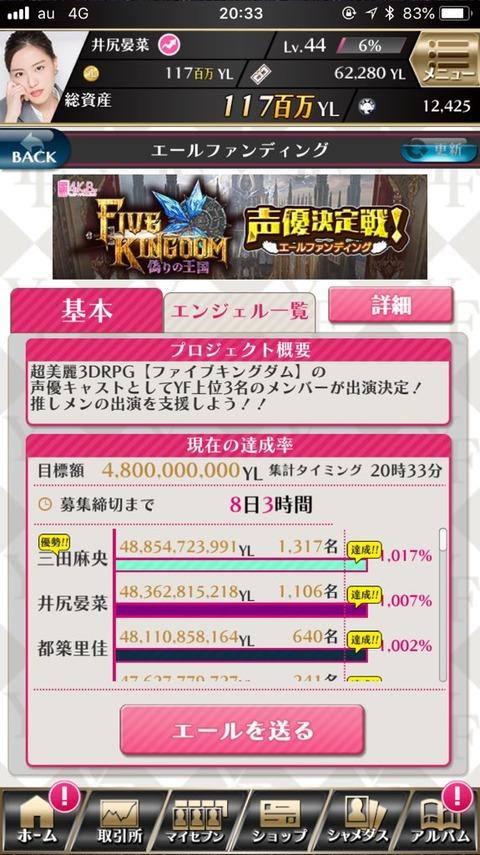 【AKB48】岡田奈々「AiKaBu声優エールファンディングは井尻晏菜を応援してます」