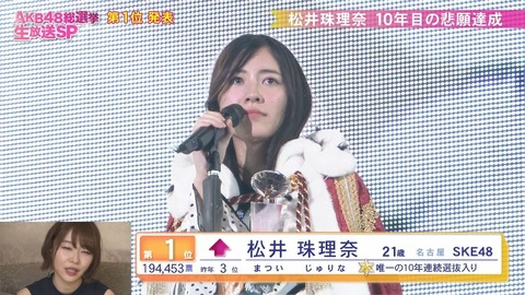 【SKE48】公約の松井珠理奈1位パレードはいつやんの?