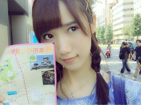 【HKT48】なつみかん、人生初の一人旅で被災地熊本を訪れる【田中菜津美】