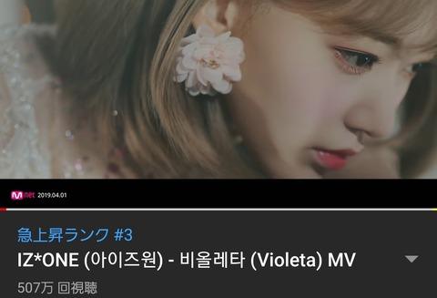 【朗報】IZ*ONE、2ndミニアルバムのリード曲「Violeta」のMVが公開から24時間で500万再生突破!