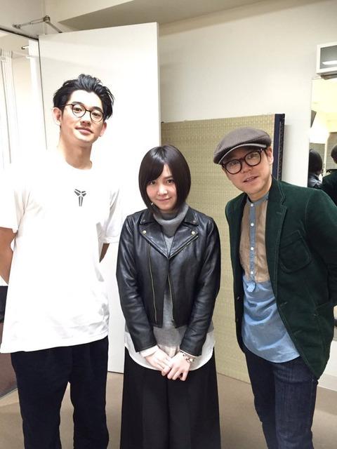 【AKB48】岩田華怜が瑛太と阿部サダヲとの3ショット写真を公開