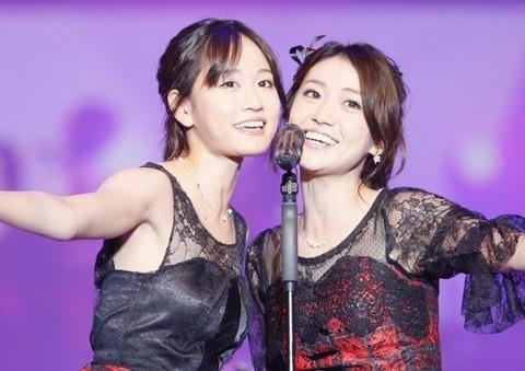 【悲報】大島優子さん、前田敦子への結婚お祝いコメントで狙いすぎてスベる