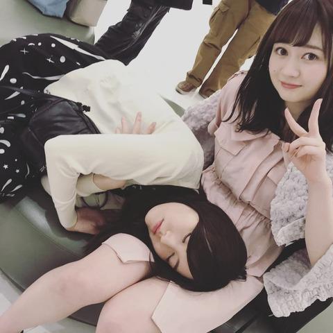 【SKE48】松井珠理奈さん、江籠裕奈の膝枕で眠る