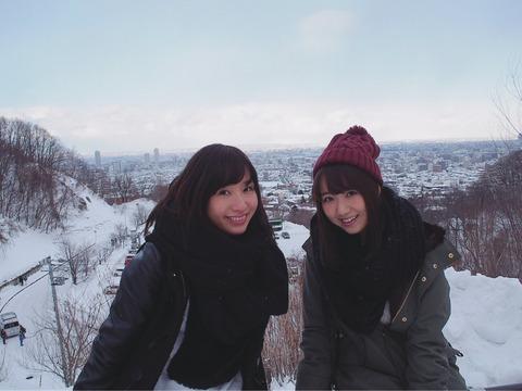 【元AKB48】片山陽加と名取稚菜の北海道バスツアーが楽しそう