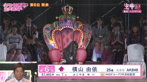 【AKB48総選挙】指原莉乃「私と麻友がいないので横山由依は実質ランクダウン」