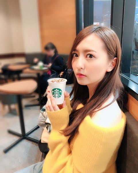 【HKT48】森保まどか「#彼女がスタバでバレンタインチョコホリックココ飲んでるなう に使っていいよ~」