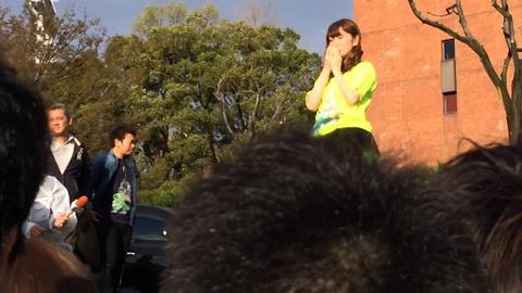 大島優子が明治公園でファンに挨拶【国立競技場コンサート】