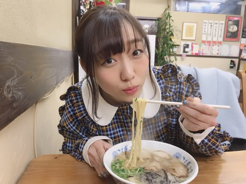 【SKE48】ラーメン食べてる須田亜香里ちゃんが可愛い!!!