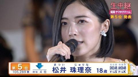 【AKB48総選挙】松井珠理奈が総選挙で1位になるお膳立てができたわけだが