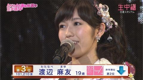 【AKB48】このままだと渡辺麻友は無冠で終わる