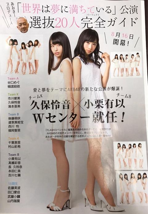 【AKB48】次世代センターがこの二人に絞られたわけだが【小栗有以・久保怜音】