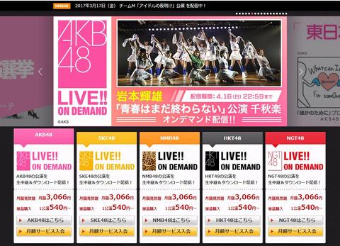 【AKB48G】DMMの月額はいくらが適正価格だと思う?