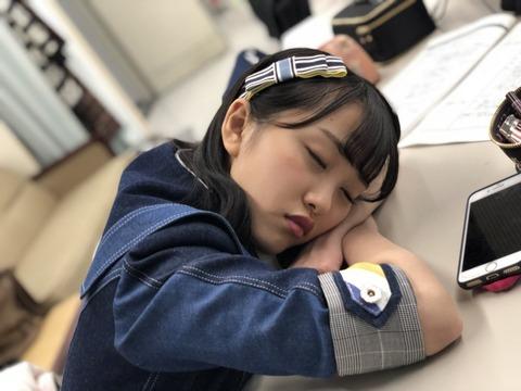 【AKB48】みーおんの天使過ぎる寝顔公開!たまらなく可愛い!【向井地美音】