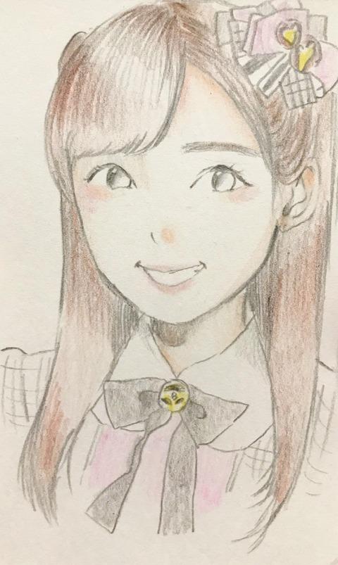 【AKB48】梅本和泉が描いた小栗有以のイラストがめっちゃ上手い!