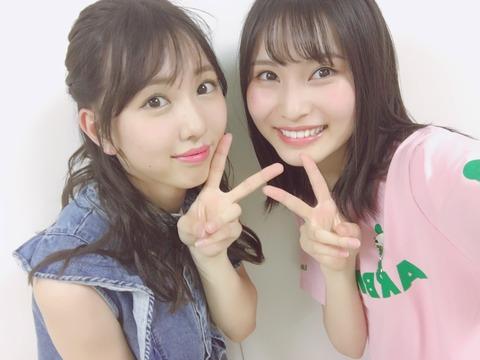 【AKB48】福岡聖菜と熊崎晴香の珍しい2ショット【SKE48】