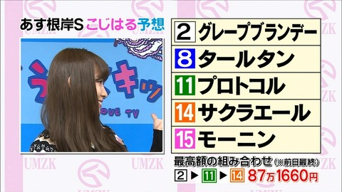 【朗報】小嶋さん、三週連続で三連単を当てる【AKB48・小嶋陽菜】