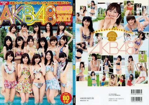 【AKB48総選挙】今年は水着サプライズが無いっぽいけど・・・